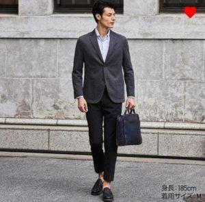 EZYアンクルパンツ(ウルトラストレッチドライEX)を使ったスーツスタイル